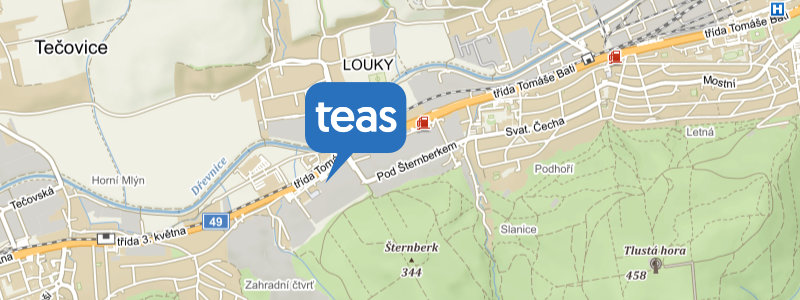 Mapa Zlín